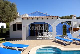 Rental Villa in Menorca: 100m to sea, pool & BBQ Minorca