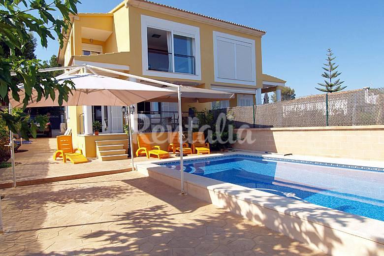 Huis voor 6 personen op 500 meter van het strand cala pi llucmajor majorca - Huis van kind buiten ...