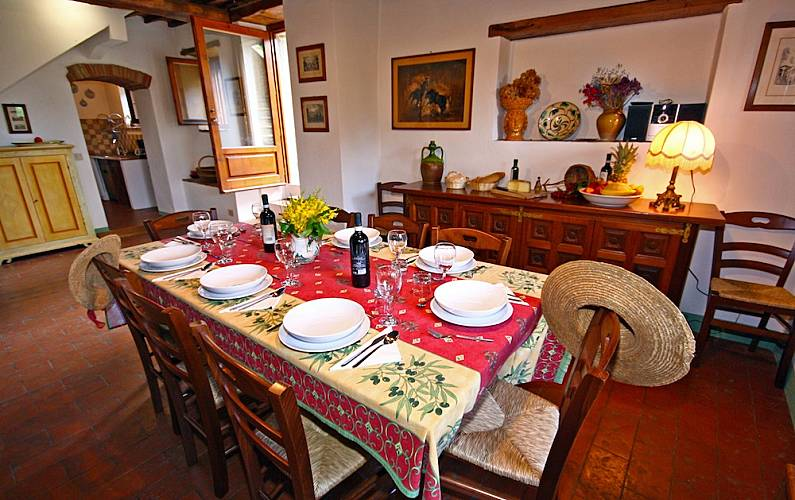 I Sala da pranzo Arezzo Cortona Casa di campagna - Sala da pranzo