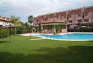 Dúplex 1-5 personas, 1ª linea Golf, 900 m playa Huelva