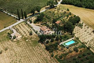 Rental villa with pool in Tuscany Siena
