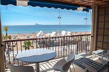 Apartamento para 3 4 personas en 1 l nea de playa for Piscinas milanuncios