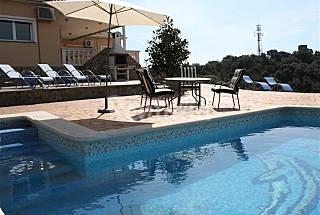 Nice villa with panoramic sea view, pool, BBQ Barcelona