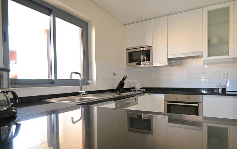 Luxuoso Cozinha Algarve-Faro Loulé Apartamento - Cozinha