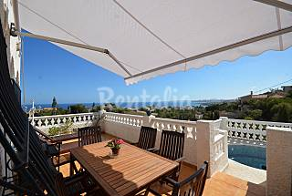 Villa Itudia, 4-5 pers, sea view, small pool Alicante