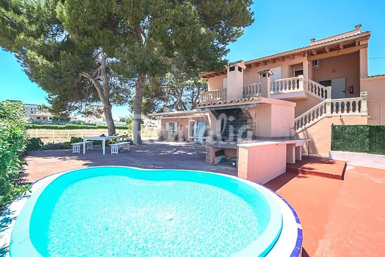 Casa para 16 19 con piscina junto playa s 39 arenal arenal - Piscinas palma de mallorca ...