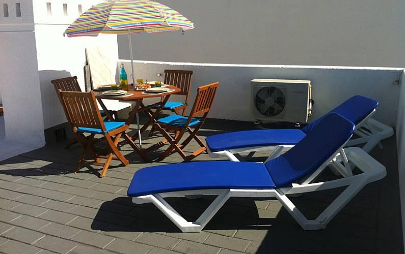 Apartamento no centro - próximo de tudo Algarve-Faro - Terraço