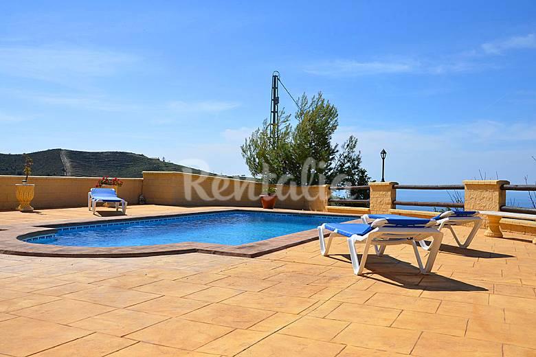 Maison en location 7 km de la plage torrox malaga for Villa malaga piscine