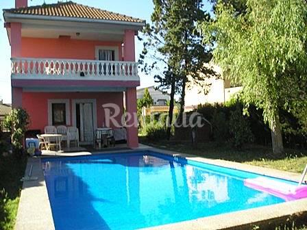 Alquiler de chalet con piscina privada pinseque zaragoza for Piscina publica zaragoza