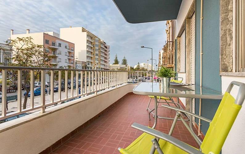 Apartamento no centro-perto todas facilidades-Mar Algarve-Faro - Terraço