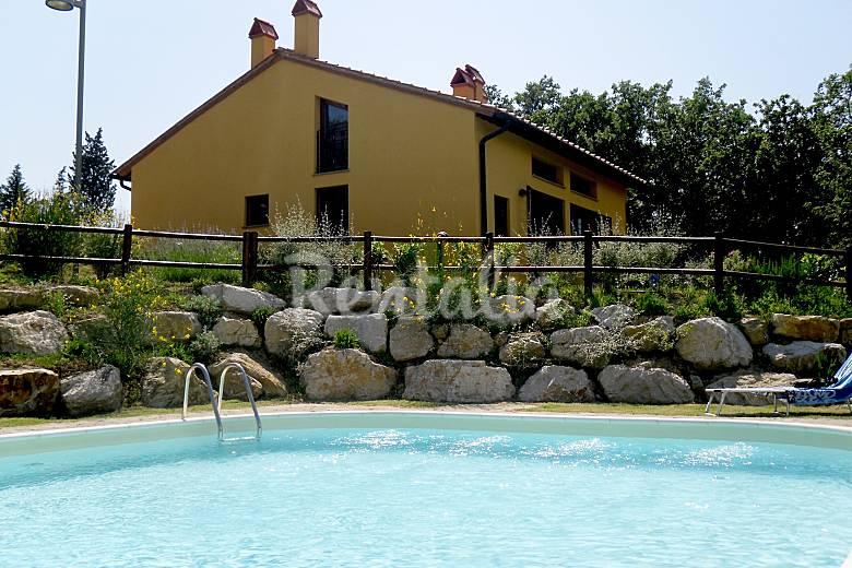 Hibiscus Swimming pool Florence Gambassi Terme Cottage