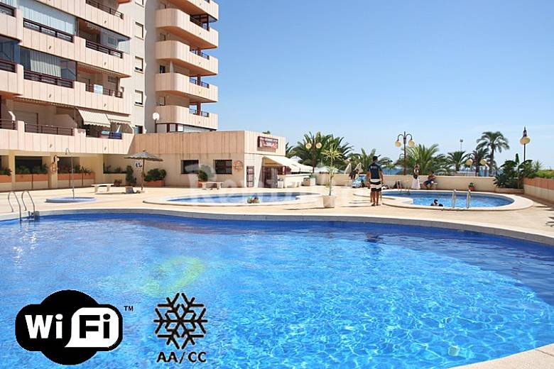Penthouse an het strand met zeezicht en zwembad calpe calp alicante costa blanca - Zwembad met strand ...
