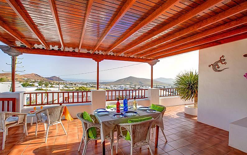 Villa Terraza Lanzarote Teguise Villa en entorno rural - Terraza