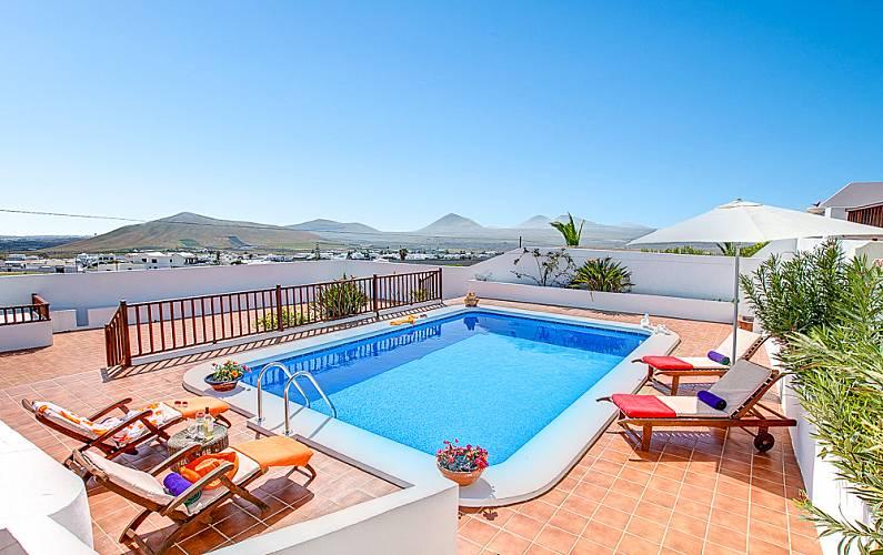 Villa para 2-6 personas a 8 km de la playa Lanzarote - Piscina