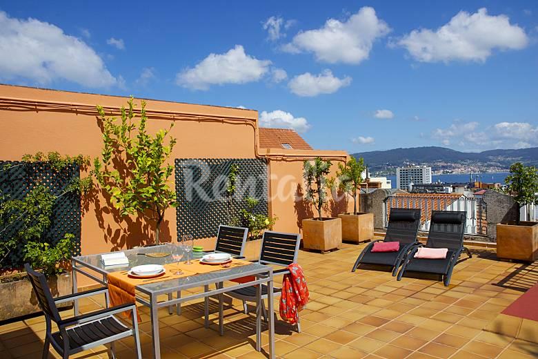 Tico en el centro con terraza y vistas a la r a vigo pontevedra camino de santiago de los - Fotos terrazas aticos ...