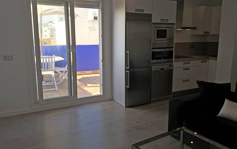 Ático, Salón Cádiz Conil de la Frontera Apartamento - Salón
