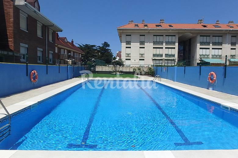 2 hab playa a 100 metros terraza 100 m2 piscina somo for Piscina en jardin de 100 metros
