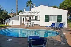Villa en alquiler con piscina Menorca