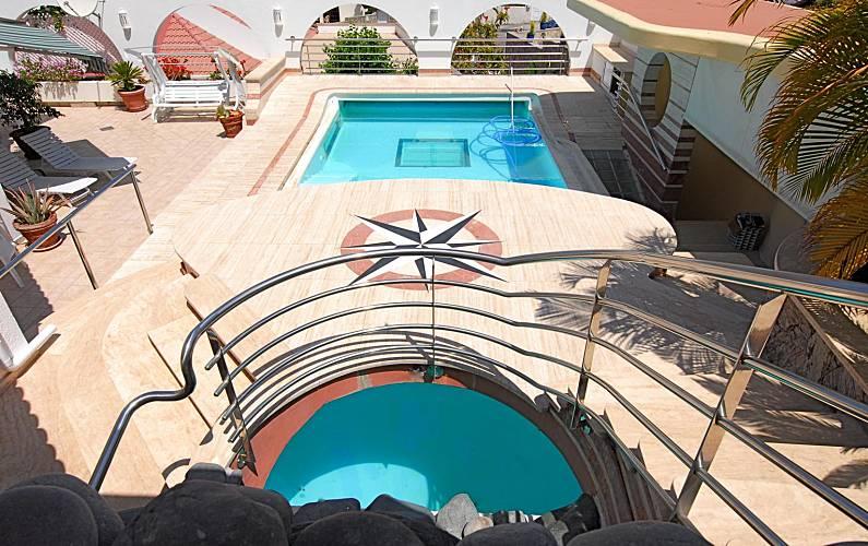 Property with heated pool & seaviews Gran Canaria - Swimming pool