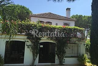 Villa para 6-8 personas en urb. 1ª linea de playa  Málaga