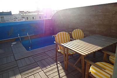 Atico con piscina cerca de la playa de la Rubina Girona/Gerona