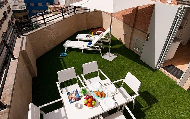19 Apartments 100 M Far From Las Canteras Beach Gran Canaria Terrace