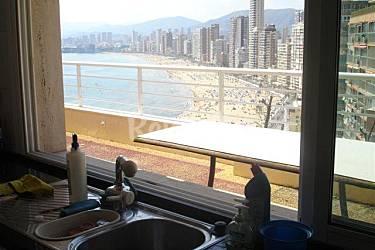 Atico Cocina Alicante Benidorm Apartamento