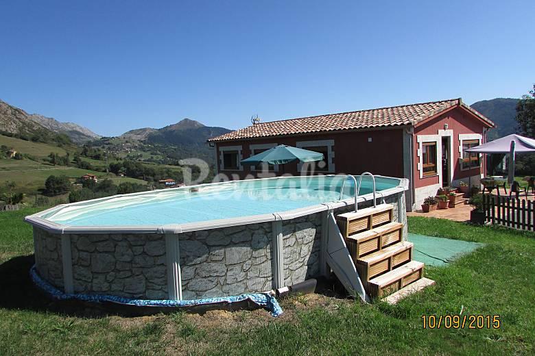 Casa en alquiler con piscina arriondas parres asturias for Alquiler casas con piscina