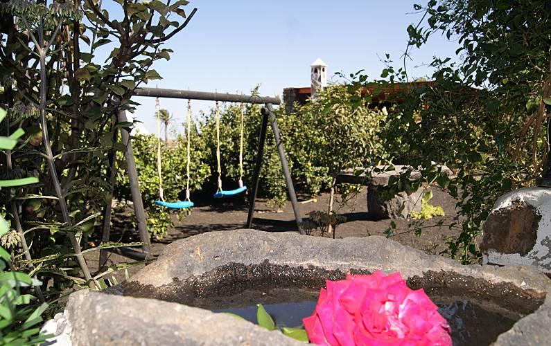 Casa Jardín Lanzarote Tinajo Casa en entorno rural - Jardín