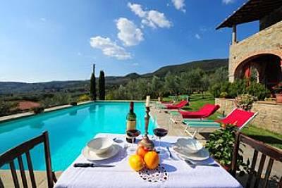 Villa para 8 personas con piscina Arezzo