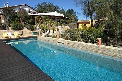 Chalet en la granja rural con piscina -3 km playa Algarve-Faro