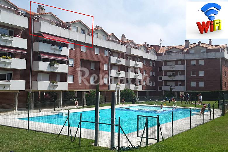 Atico de 100m2 con piscina y terraza wifi gratis castro - Piscina terraza atico ...