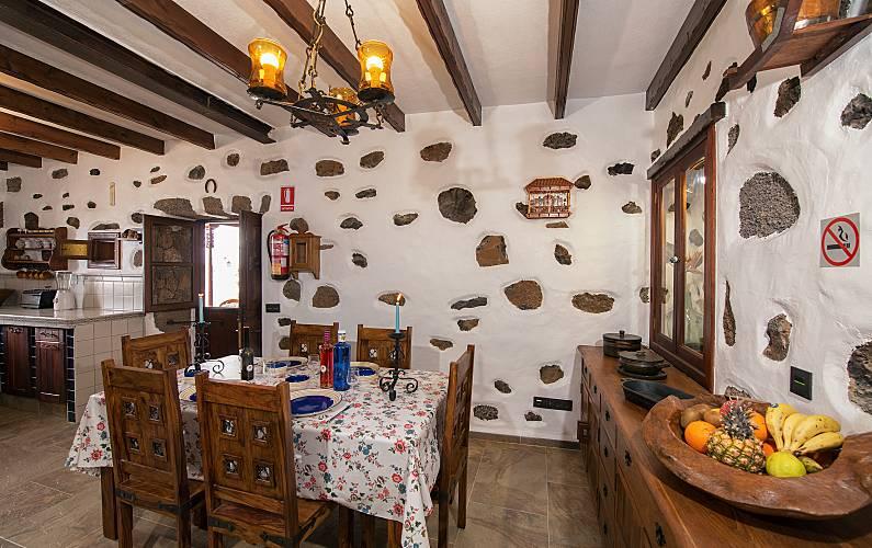 Casa Comedor Lanzarote Tinajo Casa en entorno rural - Comedor