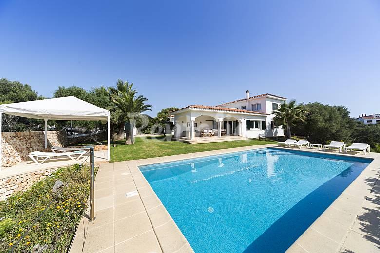 Luxury villa on the beach front line Minorca