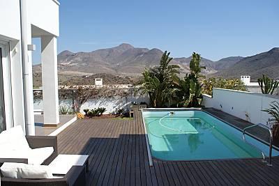 Villa para 7-8 personas a 500 m de la playa Almería