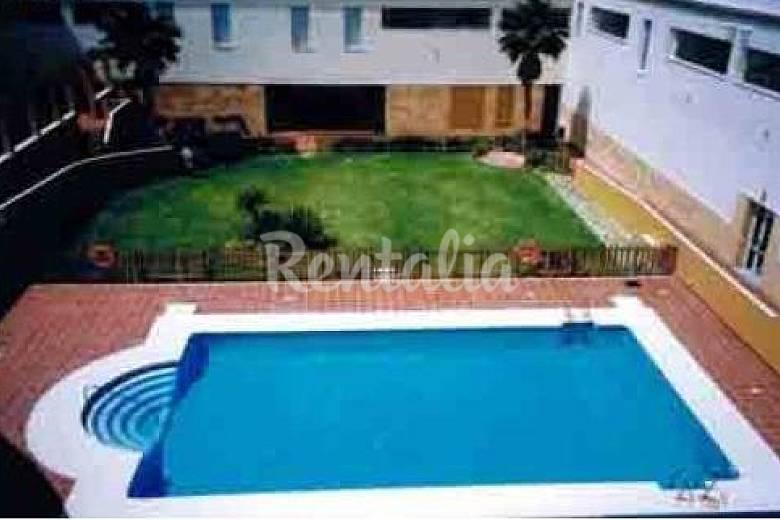 voll Schwimmbad Cádiz Rota Ferienwohnung