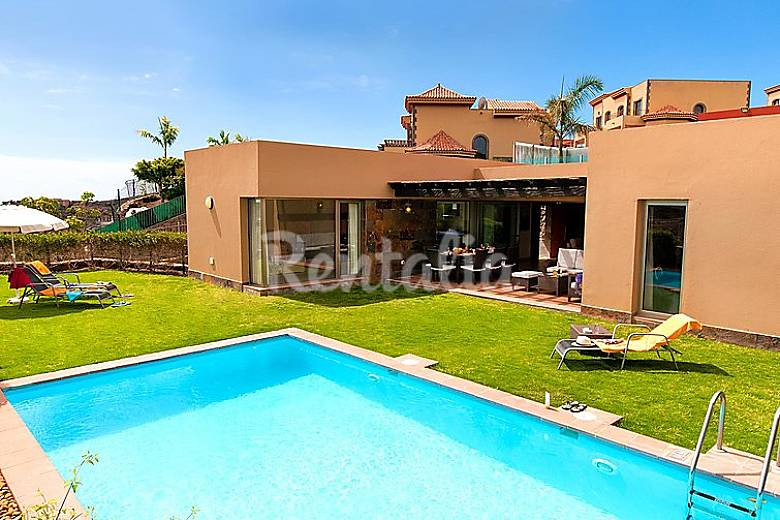 Villa en alquiler con piscina el vento mog n gran - Villas en gran canaria con piscina ...