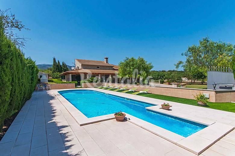 Villa con piscina en el campo mallorqu n lloseta - Piscinas en mallorca ...