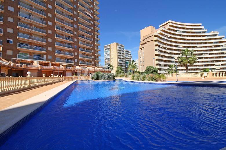 Apartamento en alquiler a 100 m de la playa calpe calp for Piscinas calpe