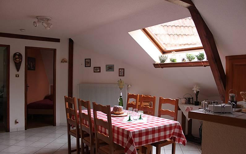 Holiday Dining-room Bas-Rhin Nothalten Cottage - Dining-room