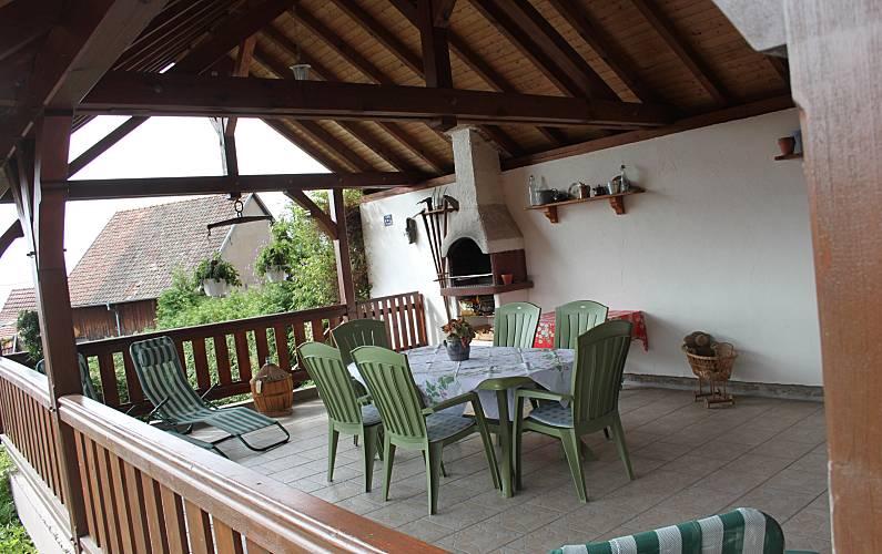 Holiday Terrace Bas-Rhin Nothalten Cottage - Terrace