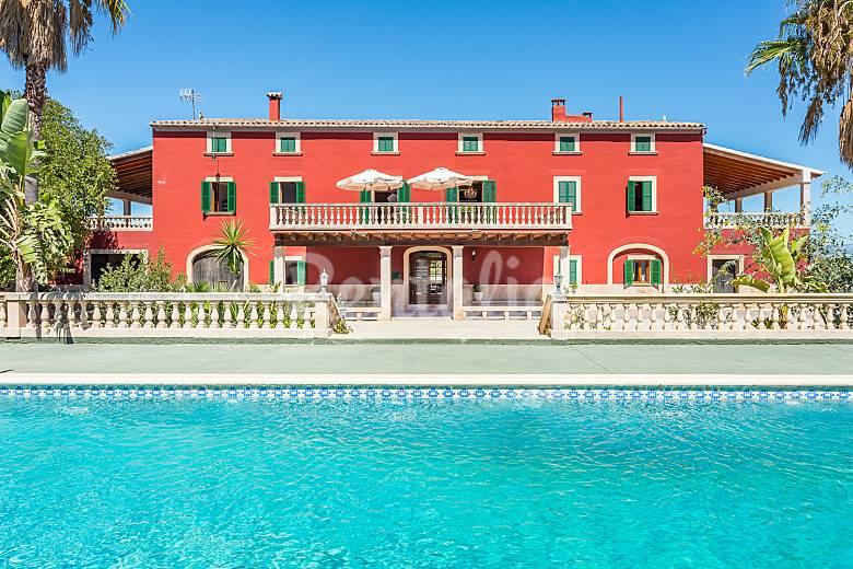 Encantadora Vistas desde la casa Mallorca Algaida Villa en entorno rural
