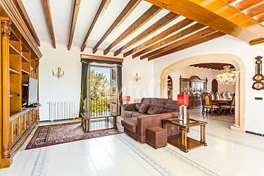 Encantadora Salón Mallorca Algaida Villa en entorno rural