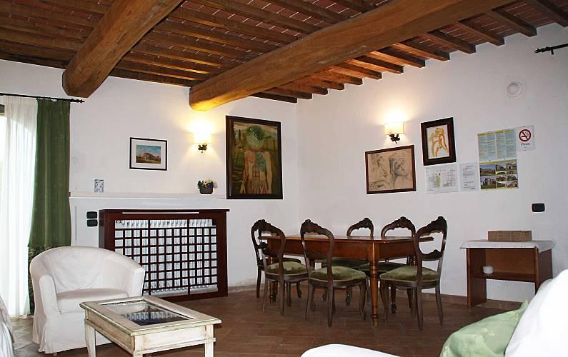 Casale Comedor Siena Casole d'Elsa Apartamento - Comedor