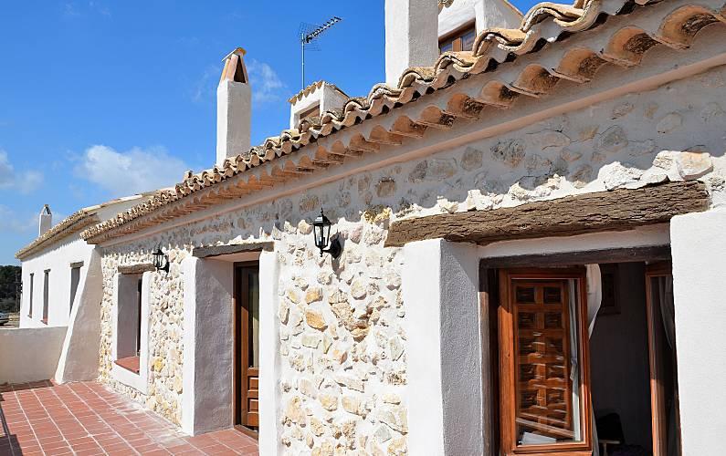Casa Terraza Cuenca Valdetórtola Casa en entorno rural - Terraza