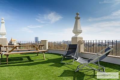 Gran piso de 4 hab, Terraza compartida, centro BCN Barcelona