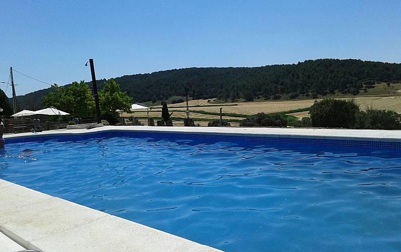 Casa Piscina Cuenca Valdetórtola Casa en entorno rural - Piscina